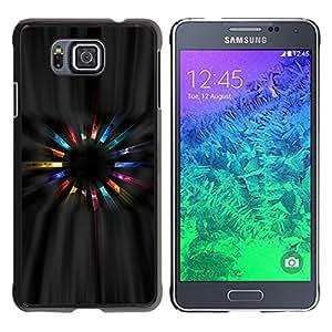KOKO CASE / Samsung GALAXY ALPHA G850 / universo cosmos cristales arte ranbow magia / Delgado Negro Plástico caso cubierta Shell Armor Funda Case Cover
