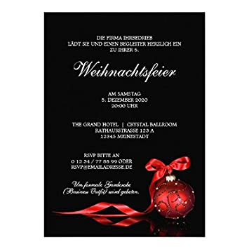 Einladung Zur Weihnachtsfeier.Geschafts Weihnachtsfeier Einladung Vorlage Amazon De