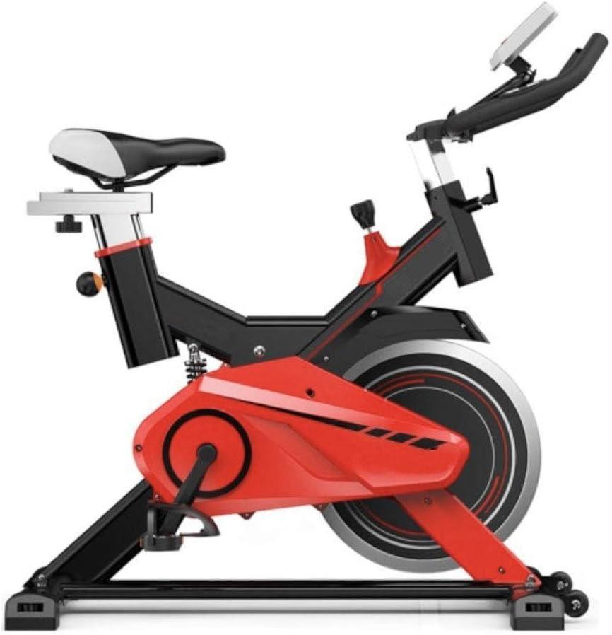 Bicicleta de ejercicio profesional para interiores, seguro Asiento cómodo Ajuste de altura Monitoreo sensible al ritmo cardíaco Hogar ultra silencioso Hombres y mujeres Equipo deportivo (Color : A) : Amazon.es: Deportes