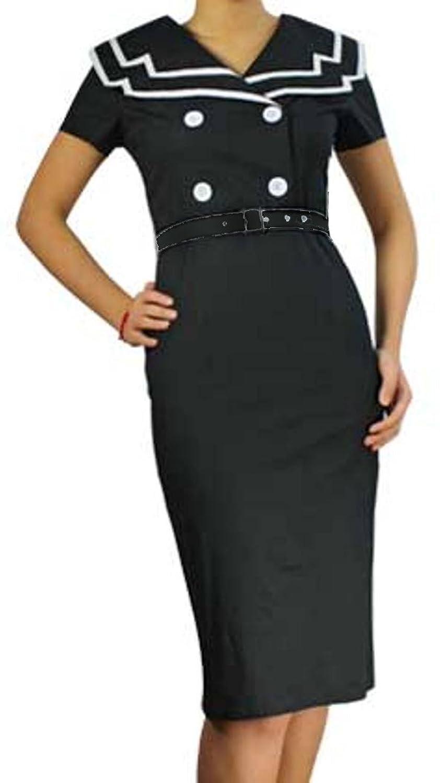 Nautical Nancy- 40s 50s Sailor Navy Retro Vintage Style Dress - USA ...