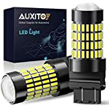 3157 LED Reverse Light Bulbs, AUXITO 1400 Lumens 4014 102-SMD 3056 3156 3057 4157 LED Bulbs with Projector for Backup Reverse Lights Tail Brake Signal Lights, 6000K Xenon White