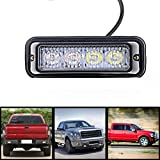 4-LED-White-Amber-Waterproof-Emergency-Beacon-Flash-Caution-Strobe-Light-Bar-16-different-flashing-Car-SUV-Pickup-Truck-Van