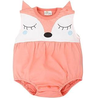 be1fccca0ff Baby Boy Girl Romper Summer Sleeveless Cute Fox Newborn One Piece Outfits
