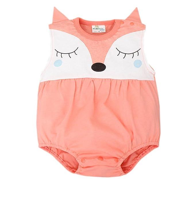 Amazon.com: Bebé niño niña Romper verano sin mangas lindo ...