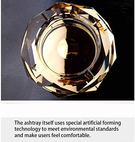 Luckya 灰皿は、サロンでの結婚式の贈り物に適した、鉛フリークリスタルゴールドガラス製