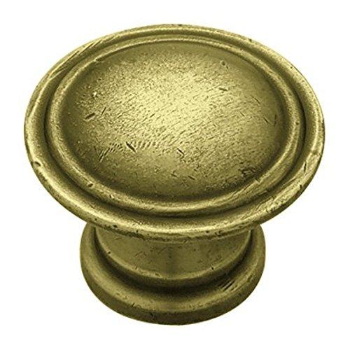 30mm Ridge Knob - Tumbled Antique Brass (25 ()