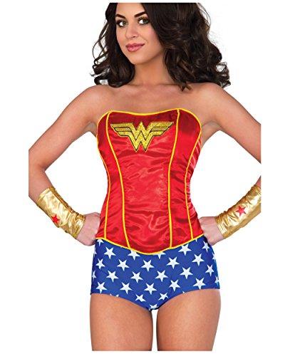 Rubie's Women's Corset, Wonder Woman, (Wonder Woman Corset)