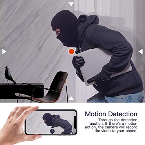 Spy Camera Hidden Camera, 1080P HD Micro Camaras Espias Surveillance Portable Video Recorder,Indoor Covert Security Camera for Home Car Quadcopters- Built-in Battery