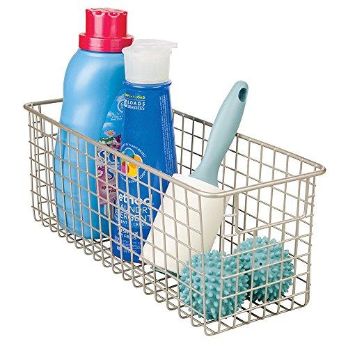 mDesign Wire Laundry Storage Basket for Detergent Powder, Dr