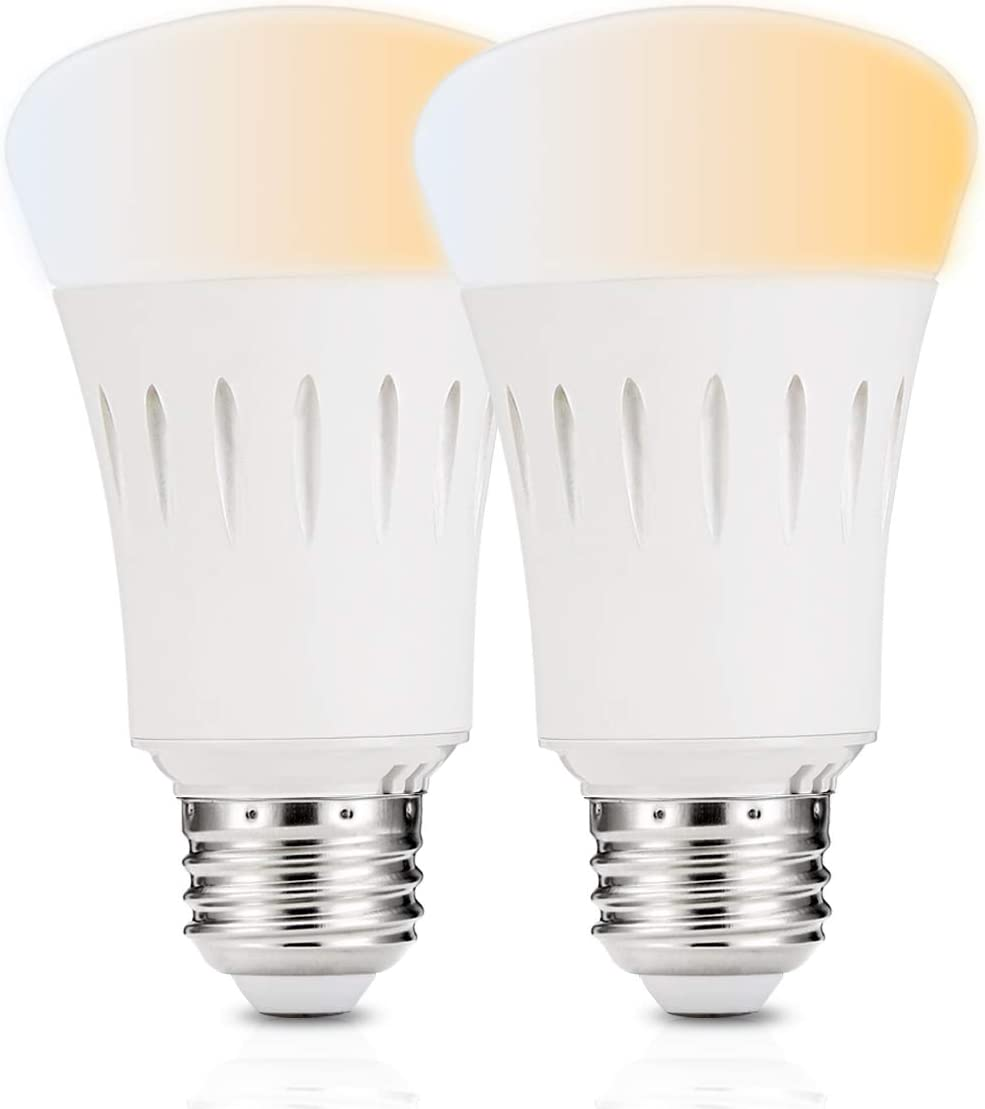 LOHAS A19 LED Wifi Smart Bulb, 9 W 60 W Equivalent E26 Dimmable WiFi LED, Tunable White 2000K - 6500K , Remote Voice Control, General Purpose Decoration, Compatible with Alexa and Google Home 2Pack