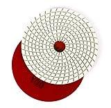 5 Inch Diamond Polishing Pads Grit 100 for Marble Stone Angle Grinder Sanding Polishing