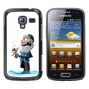Caucho caso de Shell duro de la cubierta de accesorios de protección BY RAYDREAMMM - Samsung Galaxy Ace 2 I8160 Ace II X S7560M - Man Winter Cartoon Kids