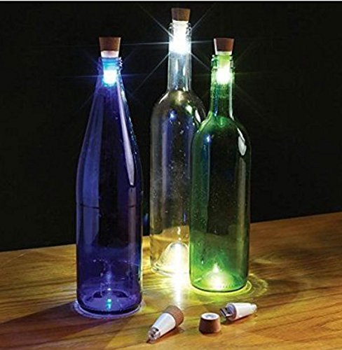 - 3 Pack USB Powered Rechargeable LED Cork Shaped Bottle Light, For Your Empty Wine Bottle, Great For Home, Party, Christmas Lights Decoration from Unido Party