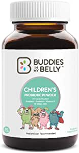 Children's Powder Probiotics 30 Servings - Non-GMO Probiotic Powder for Children Aged 0-3 with Zero Preservatives - Infant Probiotics for Strong Immune System and Bodily Health - Baby Probiotics