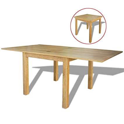 Amazon.com - Extendable Table Oak Kitchen Table Dining Room ...