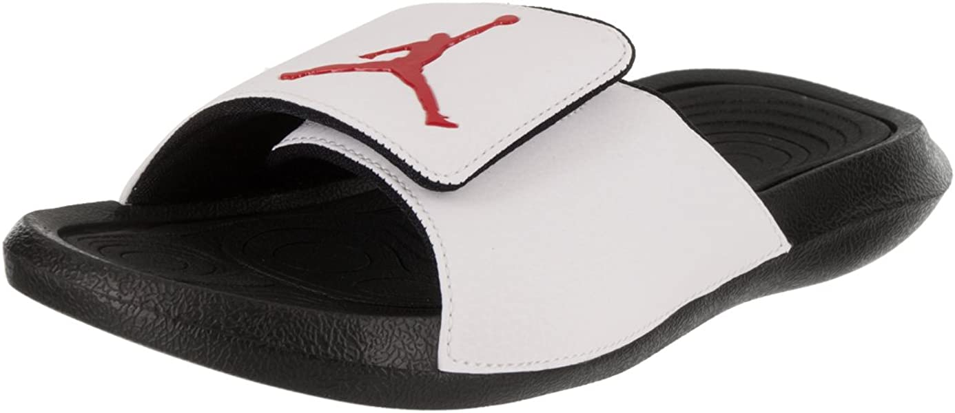 490f5fa1b Jordan Hydro 6 Men s Slides White Black Gym Red 881473-101 (9 D(M ...