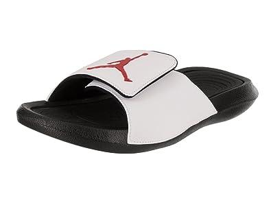 9682b040359477 Jordan Hydro 6 Men s Slides White Black Gym Red 881473-101 (9