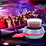 Spin the Shot - Fun Party Drinking Game - Pour a Shot, Spin and Drink or Make Up the Rules - Delightful Gift for Home Entertaining, Kickbacks, Parties, Tailgates, and Get Together
