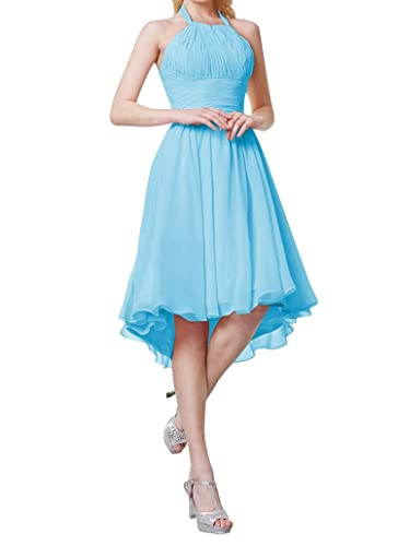 Always Pretty Women's Hi-Lo Chiffon Party Cocktail Bridesmaid Dresses