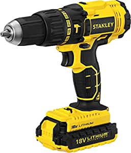 Stanley SCH20C2K Chargeable Hammer Drill, Cyber Yellow - 18 Volts