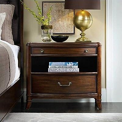 Hooker Furniture Palisade 2-Drawer Nightstand in Walnut