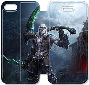 Premium Flip Ultra Slim Diablo-1 iPhone 5C Leather Flip Case