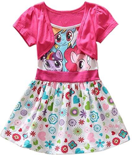 Girls Summer My Little Pony Dress Floral Short Sleeve (5y, (Little Pony Dress)
