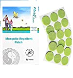 Moni-Q secretz Mosquito Repellent Patch 60 Count Resealable/Natural Mosquito Bug Repellent Stickers/CITONELLA, Eucalyptus/Hours of Protection/Apply to Clothes, Kids, Babies & Adults