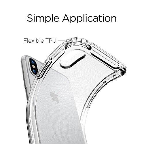 iPhone X KAMAL STAR [Crystal Clear] Stoßfest [Ultra Dünn] Transparent Hülle Bumper Cover TPU Weich Durchsichtige Handyhülle Schutzhülle für iPhone X (2017) (K Clear)