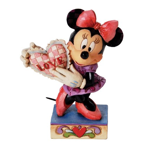 Disney Traditions by Jim Shore Minnie Mouse with Heart Figurine, 4-1 4-Inch