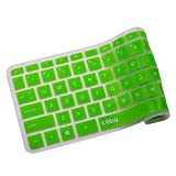 Keyboard Cover For HP 14-ab 14-ac 14-ad 14-an, Stream 14-ax Series,14-ab010 14-ab166us 14-ac159nr 14-an010nr 14-an013nr 14-an080nr 14-ax010nr 14-ax020nr ax020wm By Casiii | Green