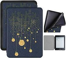 Capa Kindle Paperwhite 10ª geração à prova d'água - Função Liga/Desliga - Fechamento magnético - Silicone - Lâmpadas