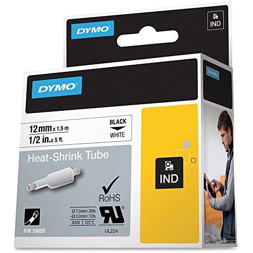 Dymo DYM18055 Rhino 1000 Heat Shrink Tube Labels Tape, 1/2