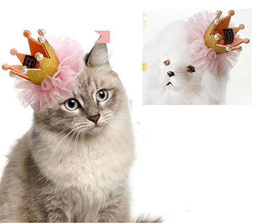 Stock Show 1Pc Pet Dogs Hairpin Princess Style Laced Crown Hair Clips Headdress Grooming Accessories for Cats Puppy…