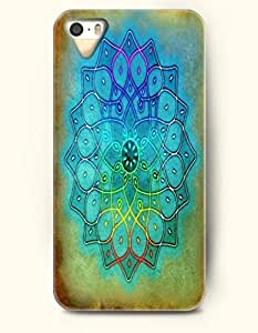 OOFIT Apple iPhone 5 5S Case Moroccan Pattern ( Blue and Green Beautiful Flower )