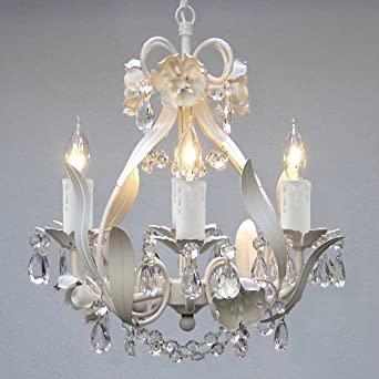 Lighting This Elegant Mini Crystal Chandelier Adds Vintage Charm The Fixture Has 4 Lights