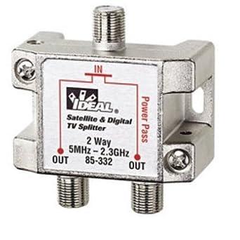 Amazon.com: Ideal 85-332 2-Way Digital Cable Splitter, 2.3 ...