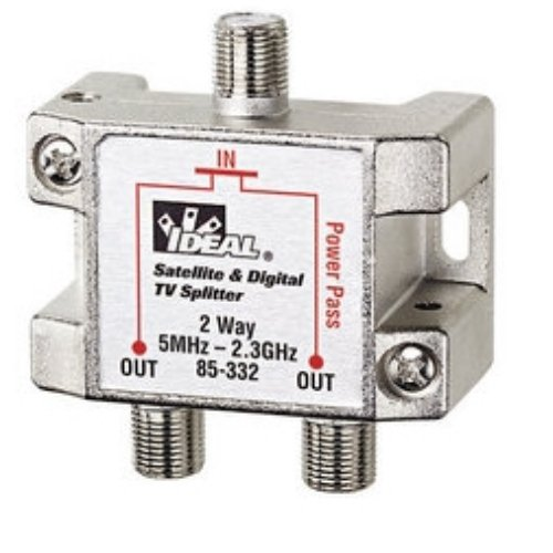 Ideal 85-332 2-Way Digital Cable Splitter, 2.3 GHz