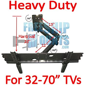 Amazon Com Full Motion Tv Wall Mount For Screen Sizes 37