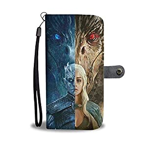 The Tipsy Dragon Night King and Dragon Queen Phone Wallet Case Samsung (Samsung Galaxy Note 8)