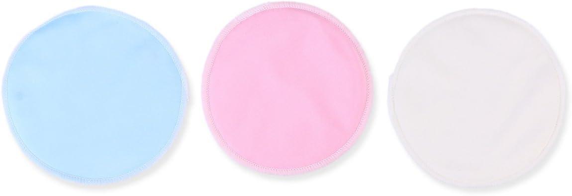 Frcolor 12pcs tampons de d/émaquillant en bambou 3 couleurs tampons doux visage r/éutilisables soins de la peau tampons de tissu de lavage