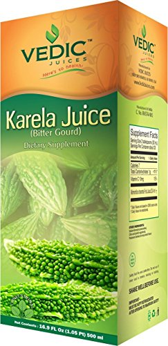 Karela Juice / Bitter Gourd 1000 Ml 1 Maintain healthy immune system, digestion, skin, and weight. Contains essential vitamins Helps in lowers down Blood Sugar Level