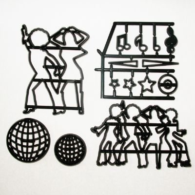 Disco Dancers (Silhouette) Cutter Set by Patchwork Cutters