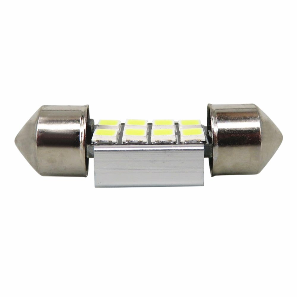 WLJH 10x 39mm Super Bright Ice Blue 3W 8SMD 2835 Chipsets 6000K White LED Bulbs Canbus Error Frre for Car Interior Dome Map Light Side Marker Number Plate Lighting Bulb