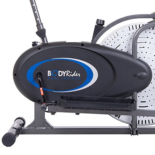 Body Rider 2-in-1 Cardio Dual Trainer Elliptical & Upright Bike