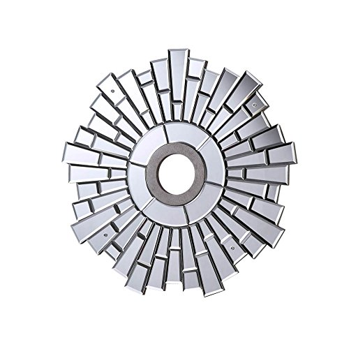 24-in. Mirrored Medallion in Silver with Clear Mirror MD400D24SC (24-in.) by AR Lighting