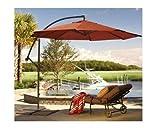Ace Evert Offset Umbrella 8074, 10 ft, Polyester, Terra Cotta For Sale