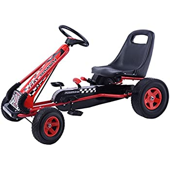 Costzon Go Kart Kids Ride On Pedal Car 4 Wheel Powered Racer Outdoor Toy