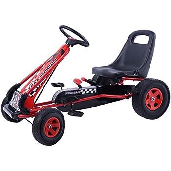 amazon com costzon go kart kids ride on pedal car 4 wheel powered