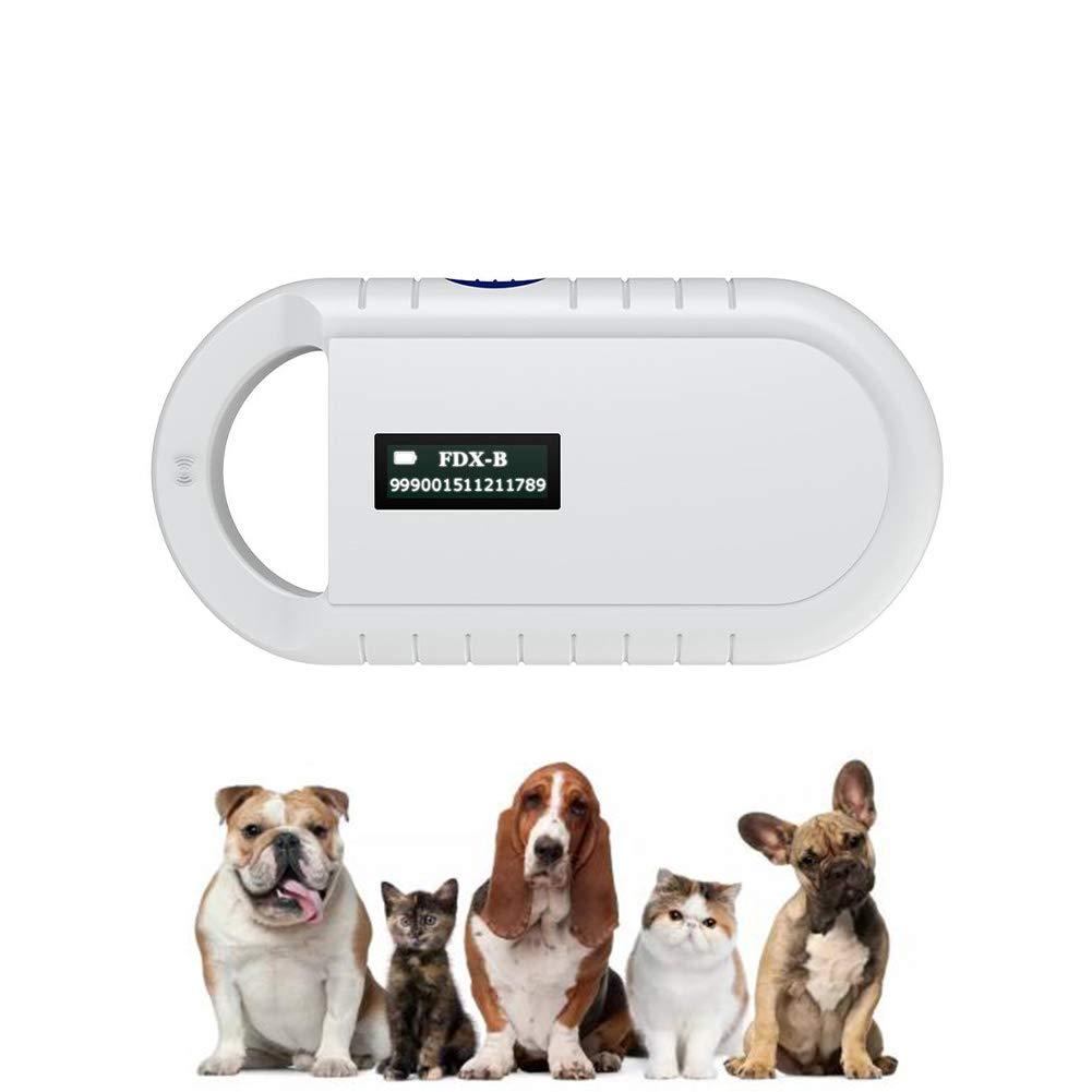 DDZ Pet Microchip Scanner, 134.2kHz ISO11784/ISO11784/FDX-B/EMID RFID Pet Microchip Reader for Animal/Pet/Dog/Cat/Pig by DDZ